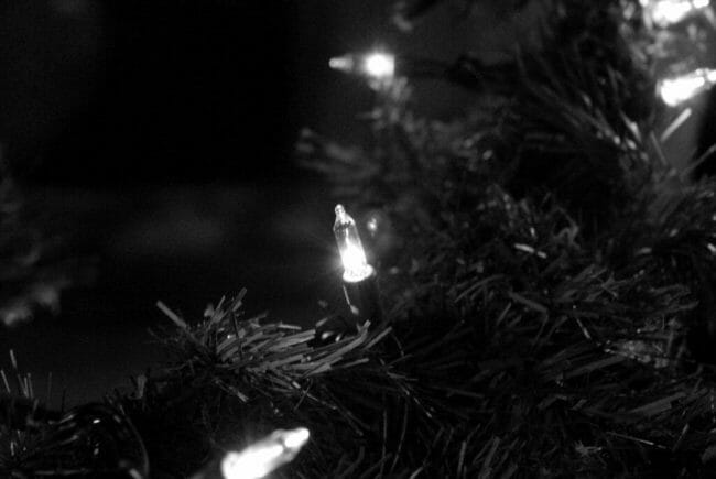 black and white christmas decorations