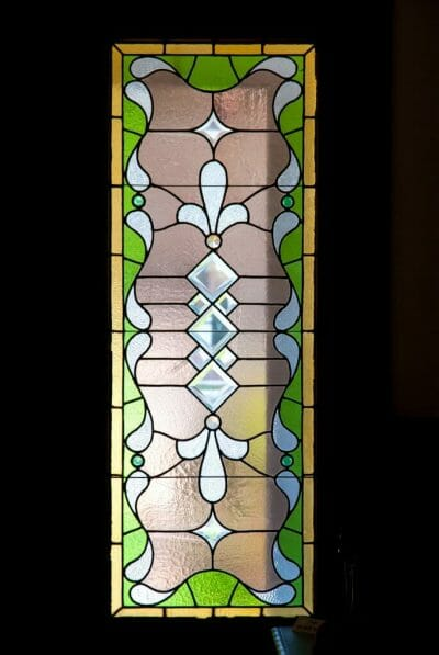 Stained glass windows at Burroughs Home in Fort Myers