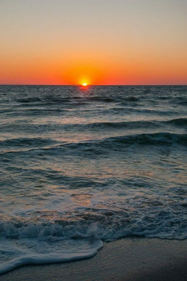 Fort Myers, FL beach sunset