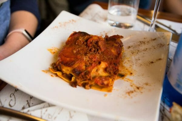 Lasagna in Venice