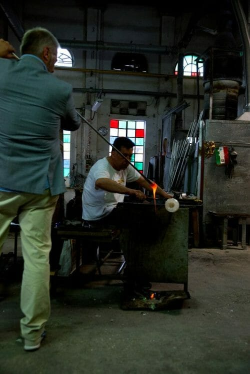 Demonstration at the Murano Glass Factory