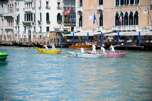 Boat race in Venice