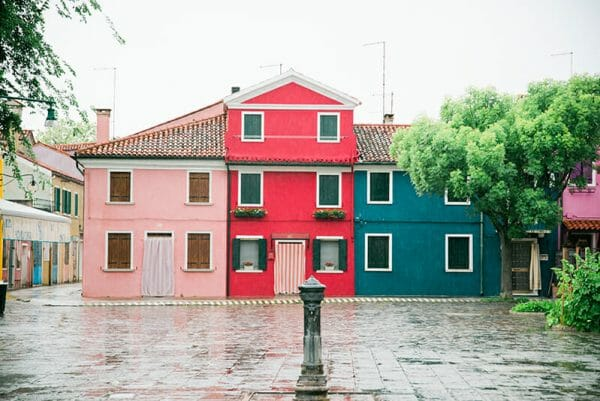 Burano Island houses