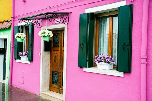 Burano Island pink house