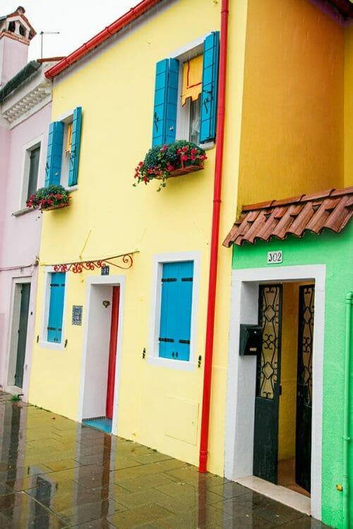 Burano Island yellow house