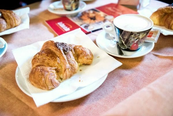 Chocolate filled croissant