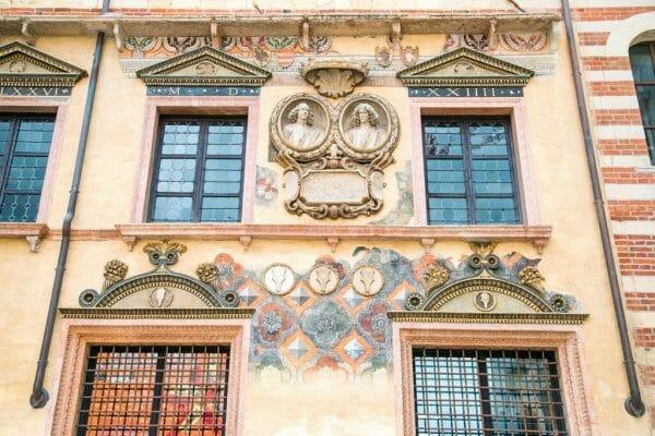 Verona, Italy frescoes