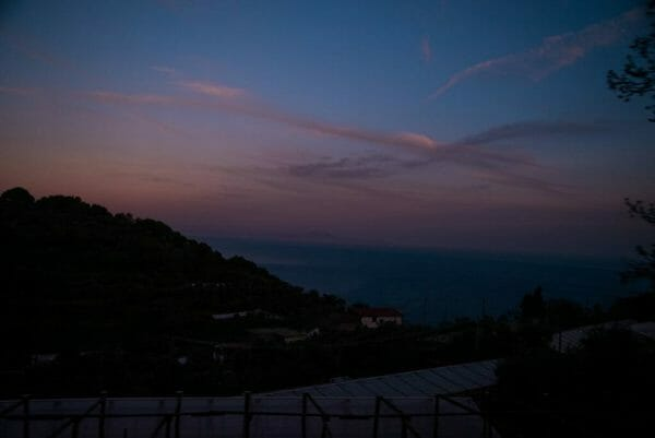 Amalfi Coast sunset