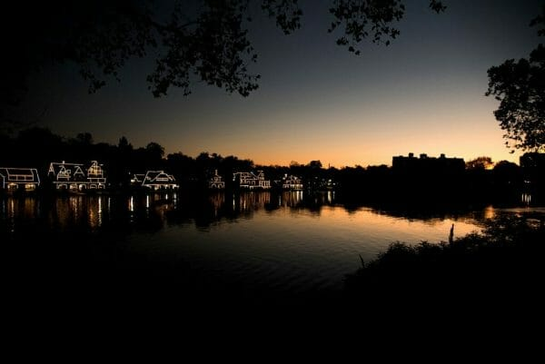 Boathouse Row at sunrise