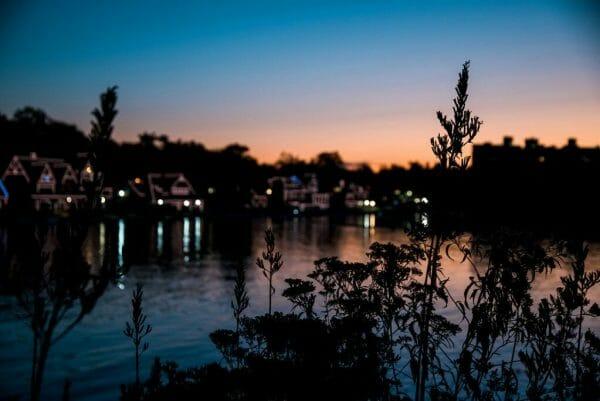 Boathouse Row at sunrise