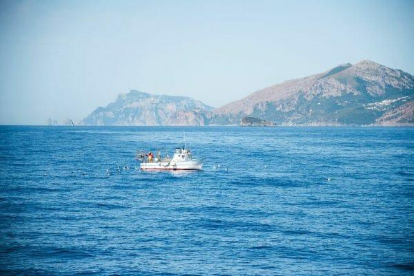 Fishing around Capri