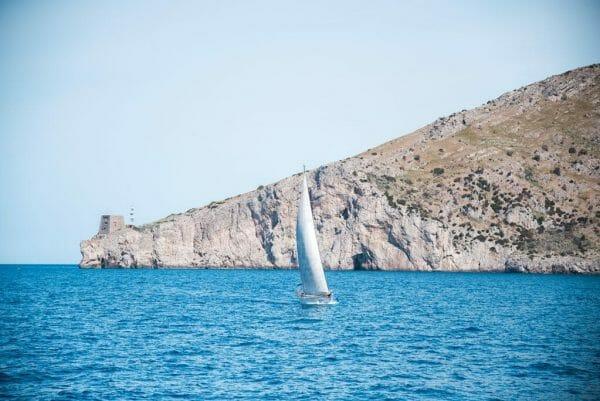Sailing around Capri