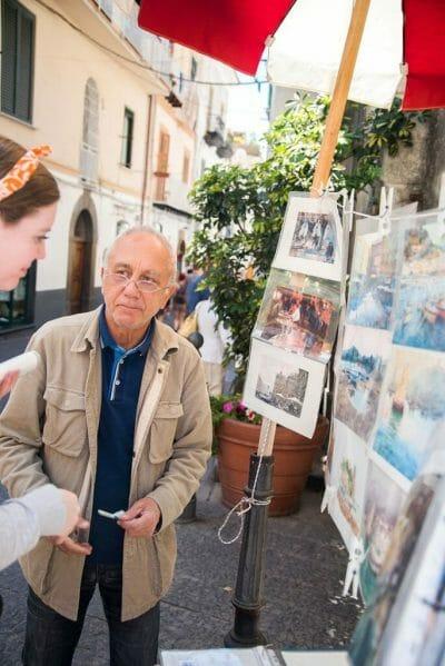 Amalfi street artist