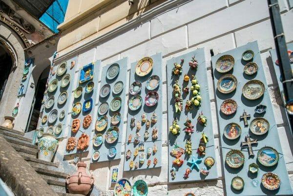 Souvenir shop in Amalfi