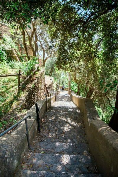 Praiano, Italy walkway