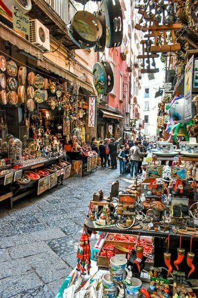 Naples Nativity market