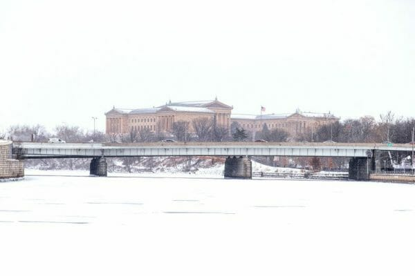 Philadelphia Museum of Art in the snow