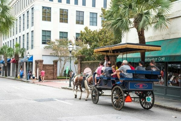 Horse and buggy tour Charleston