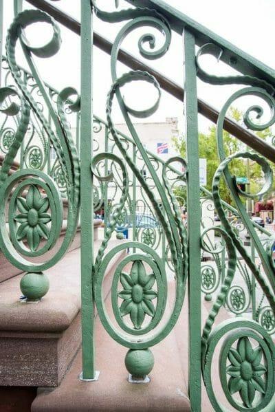 Green railings in Charleston