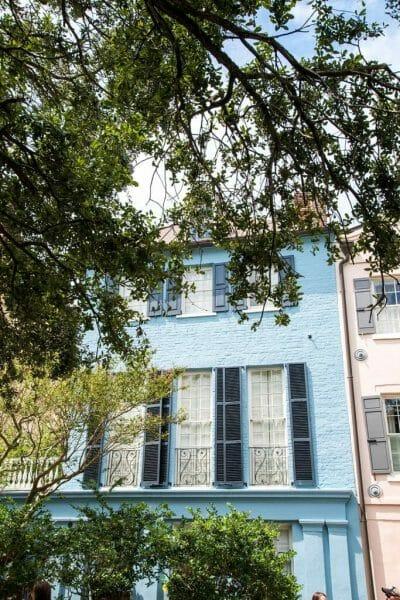 Blue house in Charleston