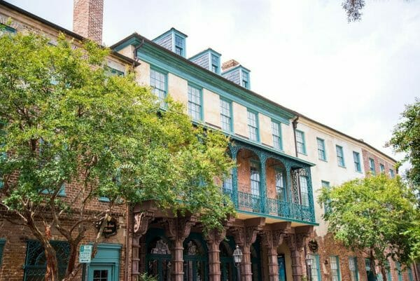 Colorful houses in Charleston