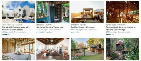 Top Airbnbs