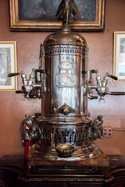 The first cappuccino maker in America