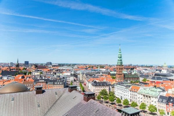 View from top of Christiansborg Palace in Copenhagen