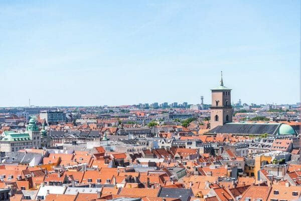 View of Copenhagen from Christiansborg Palace