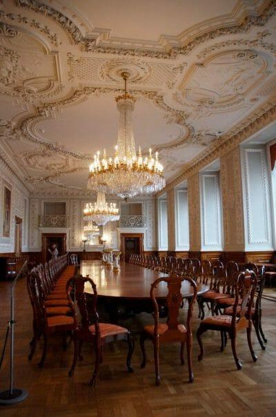 Christiansborg tour dining room