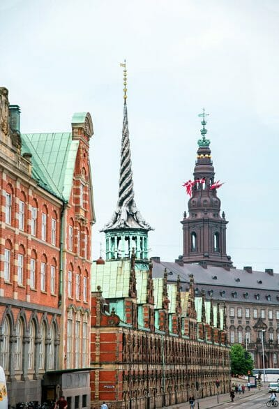 Christiansborg and the Stock Exchange building