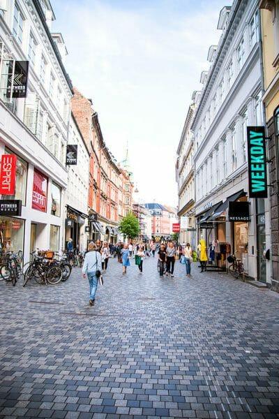 Copenhagen Stroget walking street