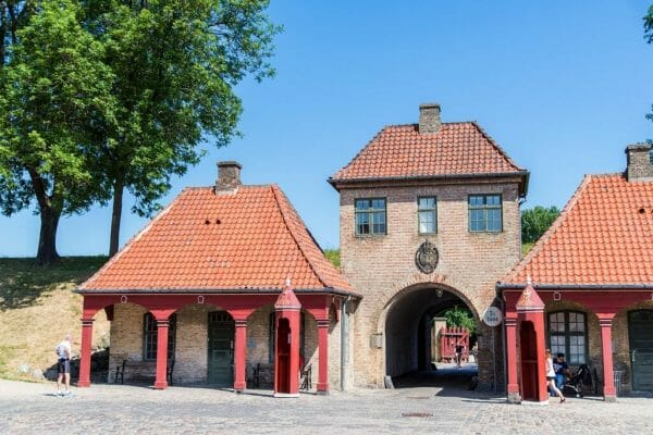 Gates in Kastellet in Copenhagen