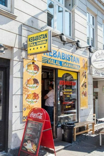 Kebab stand in Vesterbro