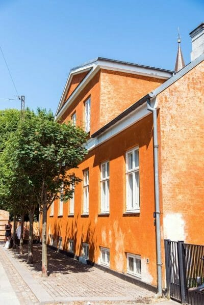 Orange buildings in Copenhagen