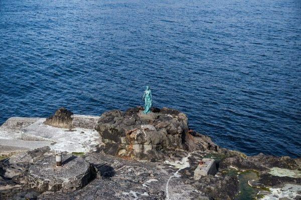 Faroe Islands Mikladalur Selkie statue