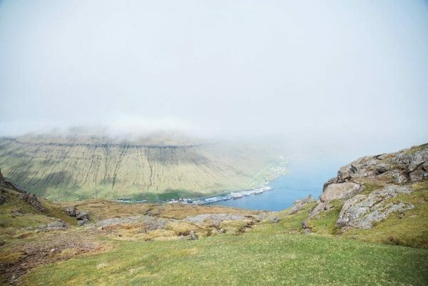 Faroe Islands view from mountains