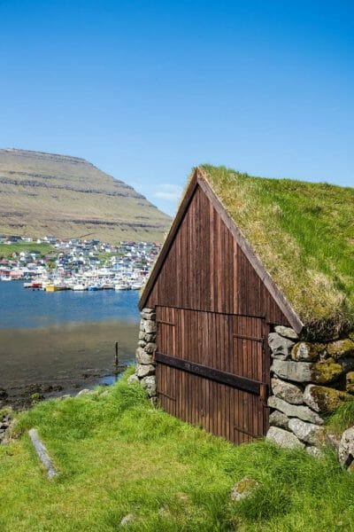 Faroe Islands grass roof house