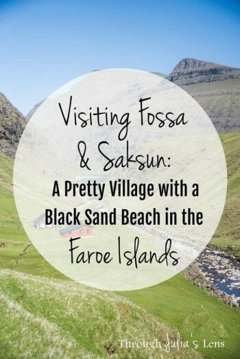 Visiting Fossá & Saksun: A Pretty Village with Grass Roof Houses & a Black Sand Beach in the Faroe Islands