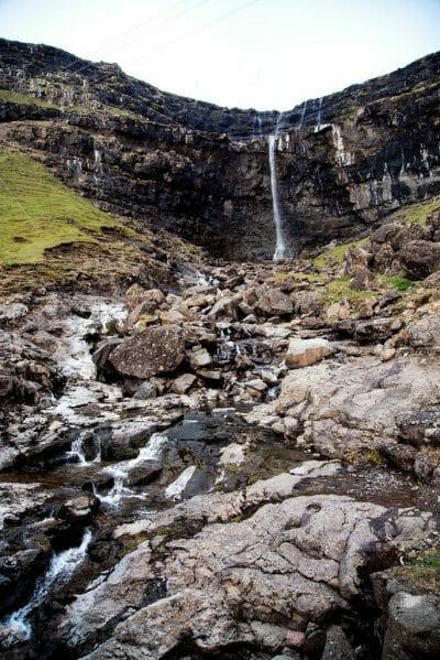Fossurin í Fossá tallest waterfall in the Faroe Islands