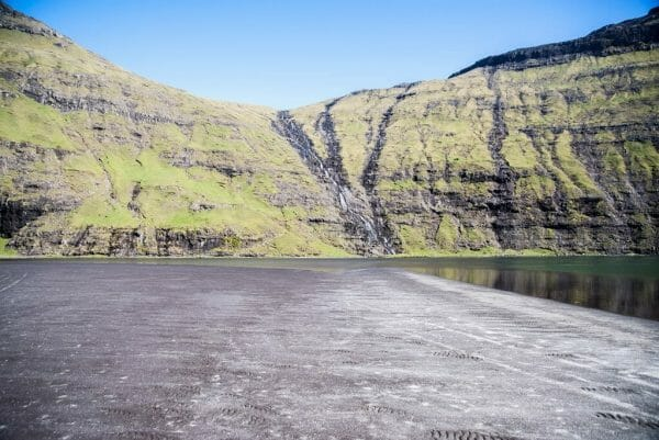 Black sand beach in the Faroe Islands