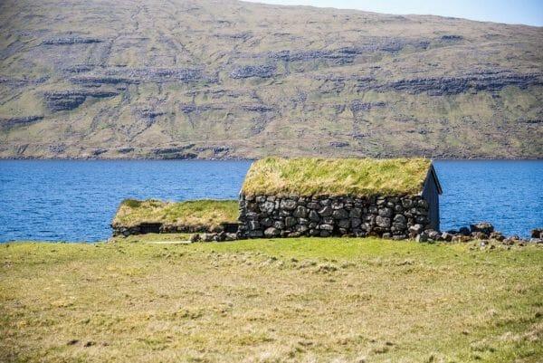 Houses on Sørvágsvatn