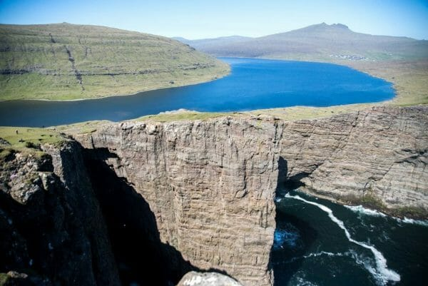 Hike to the Hanging Lake in the Faroe Islands