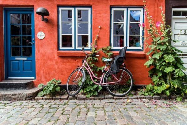 Cobblestone street in Aarhus