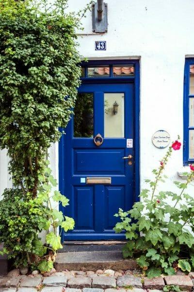Blue door in Denmark