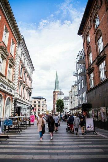Walking street in Aarhus