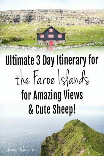 The Ultimate 3 Day Itinerary for the Faroe Islands for Amazing Views & Cute Sheep!