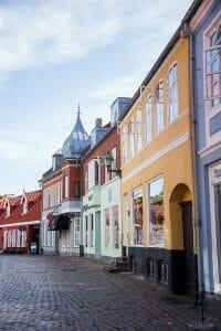 Cobblestone streets in Denmark