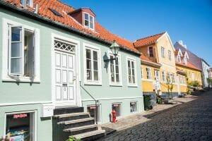 Colorful buildings in Denmark