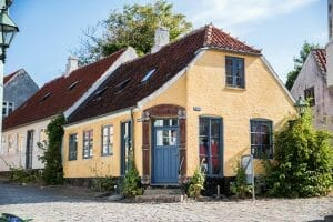 Yellow house in Denmark